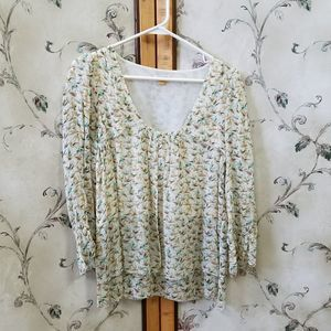 Anthropologie Leifsdottir Confetti Bird Blouse 8